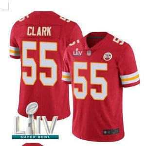 Men's Kansas City Chiefs #55 Frank Clark Jersey